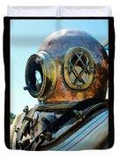 Dive Helmet Duvet Cover