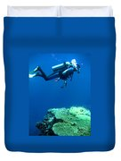 Diver In Deep Duvet Cover