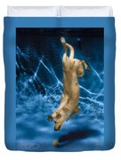 Diving Dog 2 Duvet Cover