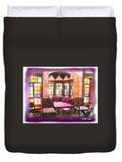 Do-00520 Emir Bachir Palace Interior-violet Bkgd Duvet Cover