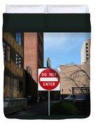 Do Not Enter Duvet Cover