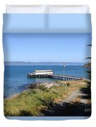 Dock At Point Reyes Calfornia . 7d16069 Duvet Cover