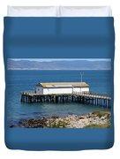Dock At Point Reyes Calfornia . 7d16070 Duvet Cover