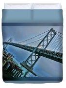 Dock By The San Francisco Bay Bridge Duvet Cover