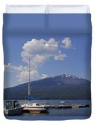 Docks At Diamond Lake Duvet Cover