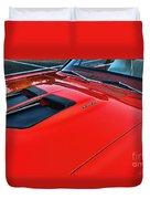 Dodge Super Bee Hood  In Red Duvet Cover