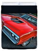 Dodge Super Bee In Red Duvet Cover