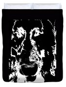 Dog Abstract Black And White Duvet Cover