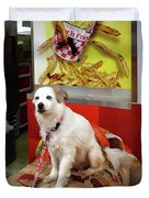 Dog At Carnival Duvet Cover