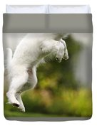 Dog Jumps Duvet Cover