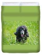 Dog On The Grass Duvet Cover