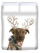 Dog With Antlers Duvet Cover