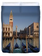 Doges Palace And San Marcos Bell Tower Duvet Cover