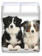 Dogs With Different-colored Eyes Duvet Cover
