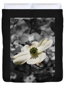 Dogwood Black And White Duvet Cover