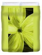 Dogwood Bloom Yellow Duvet Cover