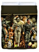 Doll - Gi Joe In Camo Duvet Cover