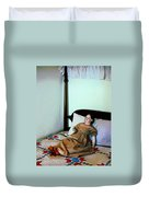 Doll On Four Poster Bed Duvet Cover