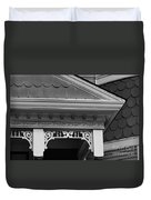 Dollhouse Black And White Duvet Cover