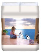 Dolphin Family Duvet Cover