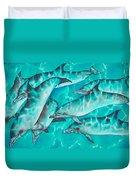 Dolphin Pod Duvet Cover
