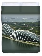 Domes Inside The Gardens By The Bay In Singapore Duvet Cover