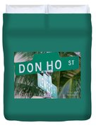 Don Ho Street Duvet Cover