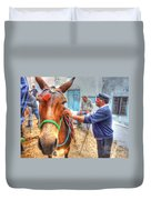 Donkey Ride Duvet Cover