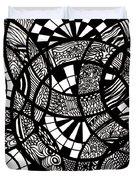 Doodle Circular  Duvet Cover