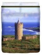 Doonagore Castle, Co Clare, Ireland Duvet Cover