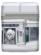 Door And Window Of Cape Cod Home During Blizzard Of '05 Duvet Cover