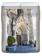 Doorway Sacred Heart Cathedral Duvet Cover