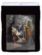 Burial Of Jesus Duvet Cover