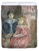 Double Portrait Of Charley And Jeannie Thomas Duvet Cover