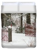 Double Red Iron Gates Duvet Cover