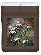 Double Snowdrops Squared Duvet Cover