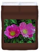 Double Wild Rose Duvet Cover