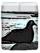 Dove At The Beach Duvet Cover