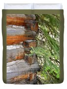Dovetail Log Construction Duvet Cover