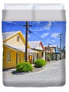 Down On Main Street Duvet Cover