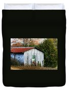 Down On The Farm - Old Shed Duvet Cover