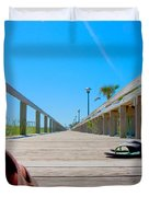 Down The Deck Duvet Cover