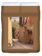 Down The Lane In Beynac France Duvet Cover