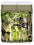 Downstream Reflections Duvet Cover