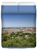Downtown Birmingham Alabama On A Clear Day Duvet Cover