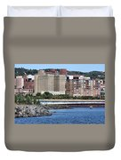 Downtown Duluth Duvet Cover