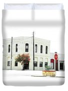 Downtown Flouresville Texas Duvet Cover