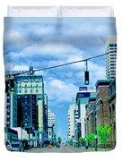 Downtown Union Ave Memphis Tn Duvet Cover