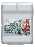 Downtown Waterville Duvet Cover