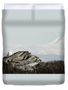 Dozing With Mount Baker Duvet Cover
